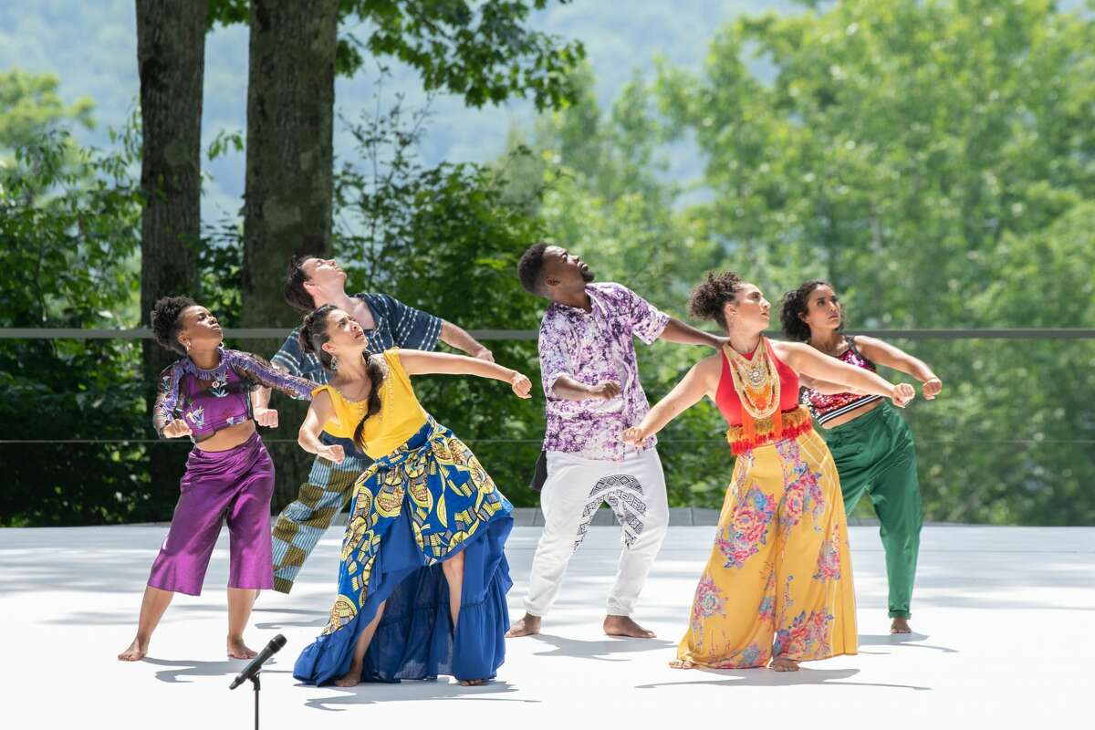Los Angeles-based Contra-Tiempo perform at Jacob's Pillow on Saturday night. (Courtesy: Jacob's Pillow)