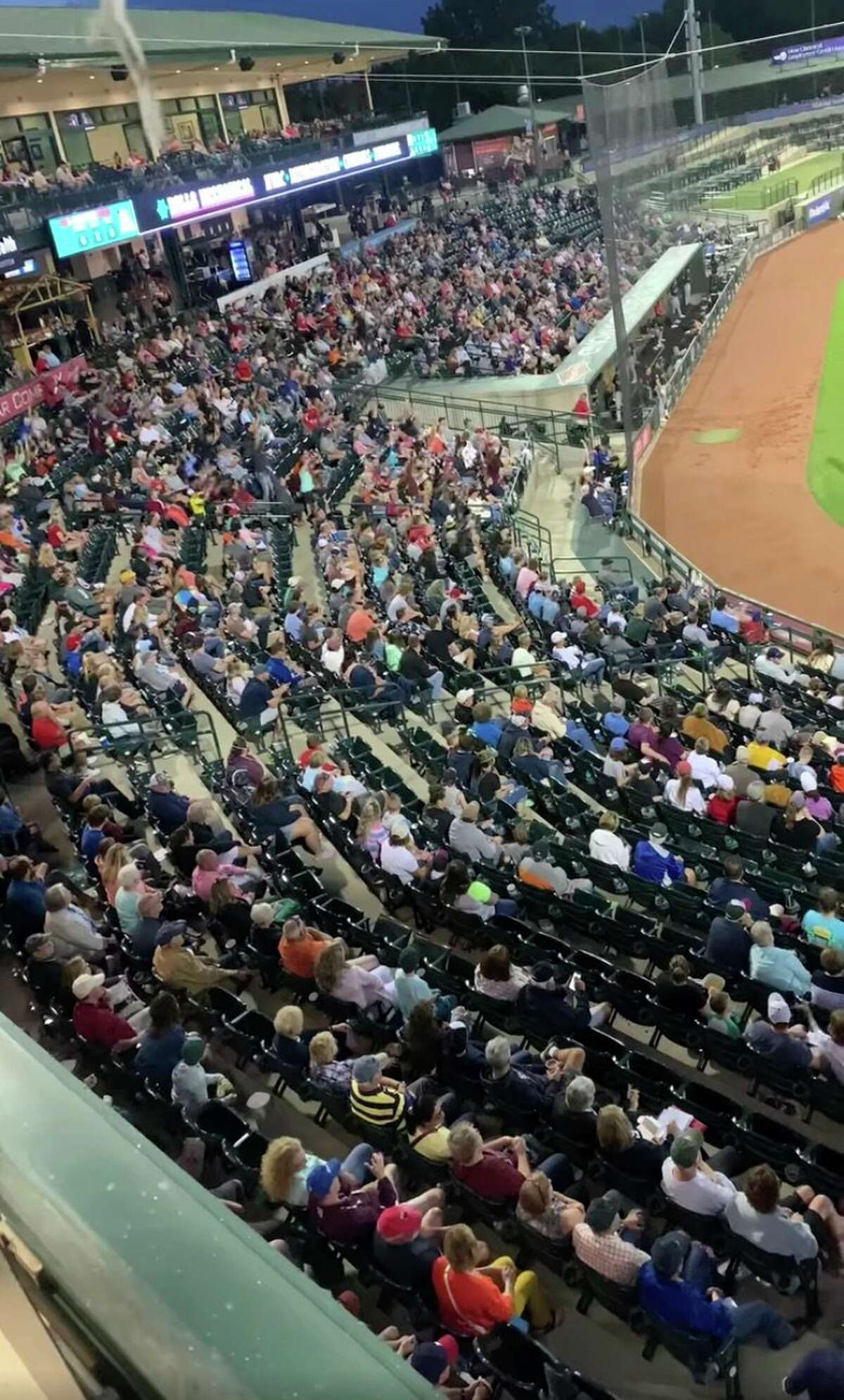 Saturday featured a record season-high crowd of 4,331 at Dow Diamond. (Facebook photo/Great Lakes Loons)