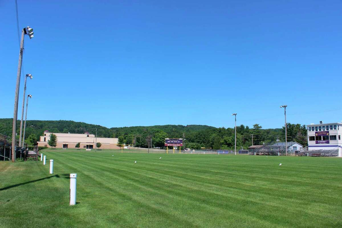 Lockhart Field is pictured in 2018.The Frankfort communityis working to make several improvements to the field,which isowned by the City of Frankfort, and leased to Frankfort High School by the Frankfort-Elberta Athletic Association. The association oversees the field and its maintenance.(File photo)