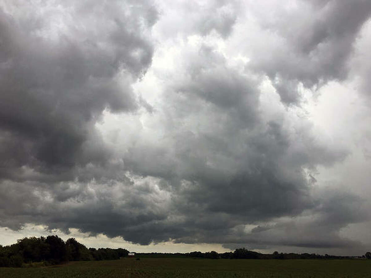 Clouds from a powerful storm system move through west-central Illinois on Saturday. The system spawned five tornadoes during the afternoon: three in Cass County and one in both Morgan and Schuyler counties.