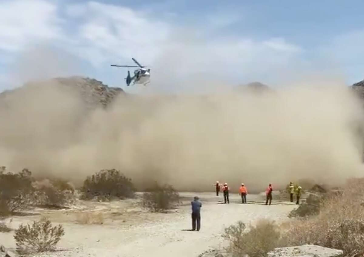 A hiker needed rescuing as a heat wave struck Palm Springs, Calif., in early July 2021.