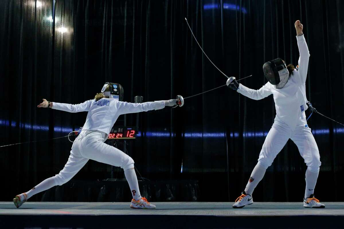Anna Van Brummen's fencing career started in Houston, took her to Princeton (competing here in 2017 NCAA championships) and now Tokyo as part of U.S. team.