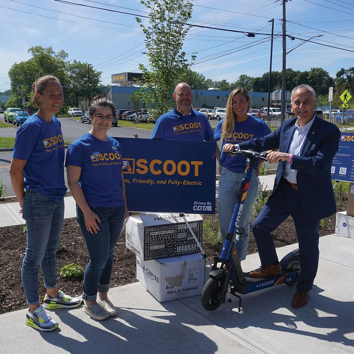 The Capital District Transportation Authority showed off electric scooters that will be available to rent starting in July 2021.