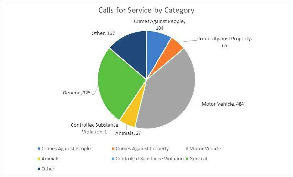 Categories ofcallsforservice Mecosta County Sheriff's Office received in June 2021. (Pioneer image/Julie Norwood)