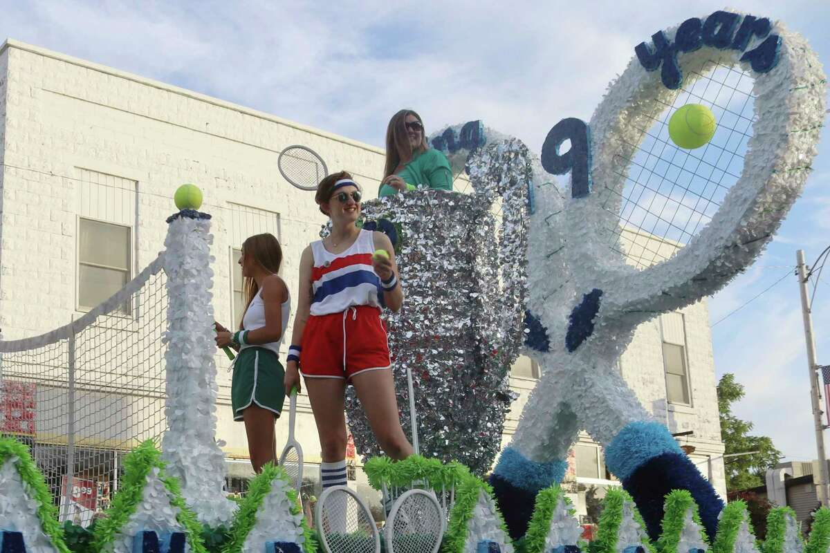Camp Arcadia celebrates its 99th year with its float in the Bear Lake Days Parade on Saturday. (Robert Myers/News Advocate)