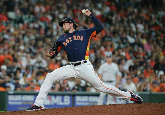 Houston Astros starting pitcher Blake Taylor (62) pitches during the top eighth inning of the MLB game against the New York Yankees Sunday, July 11, 2021, from Minute Maid Park in Houston. Photo: Yi-Chin Lee, Staff Photographer / © 2021 Houston Chronicle