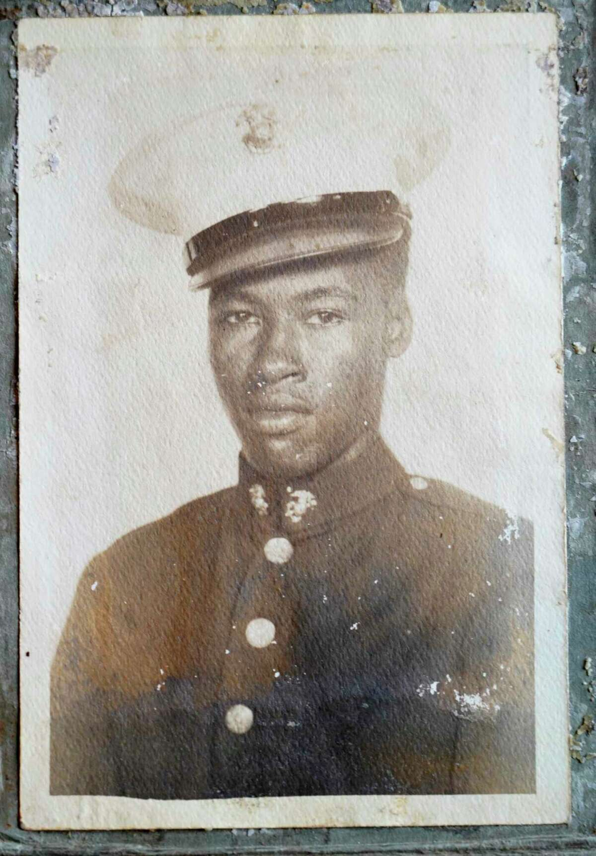 An undated family photo of Cpl. Arthur Jackson taken in his Marine uniform is shown Friday, July 9, 2021 in Houston. Jackson, 99, was one of the original Montford Point Marines. He served from 1943 through 1946. He will be receiving a replica Montford Point Marines Congressional Gold Medal on Saturday.