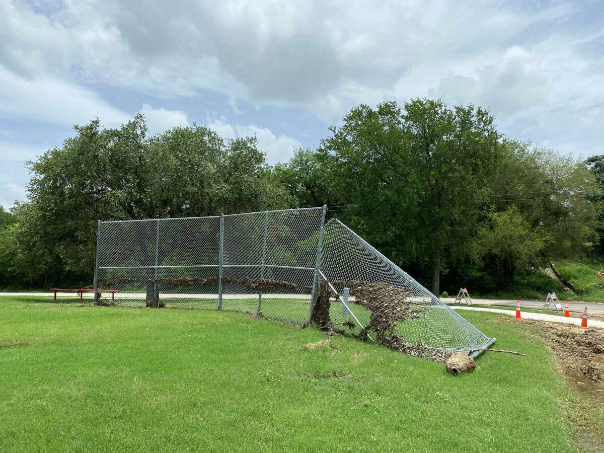 Rodriguez Park was one of several green spaces in San Antonio that suffered damage from the rain and floods between July 3 and July 10.