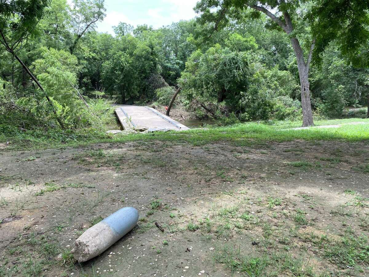 Rodriguez Park was one of several green spaces in San Antonio that suffered damage from the rain and floods between July 3 and 10.