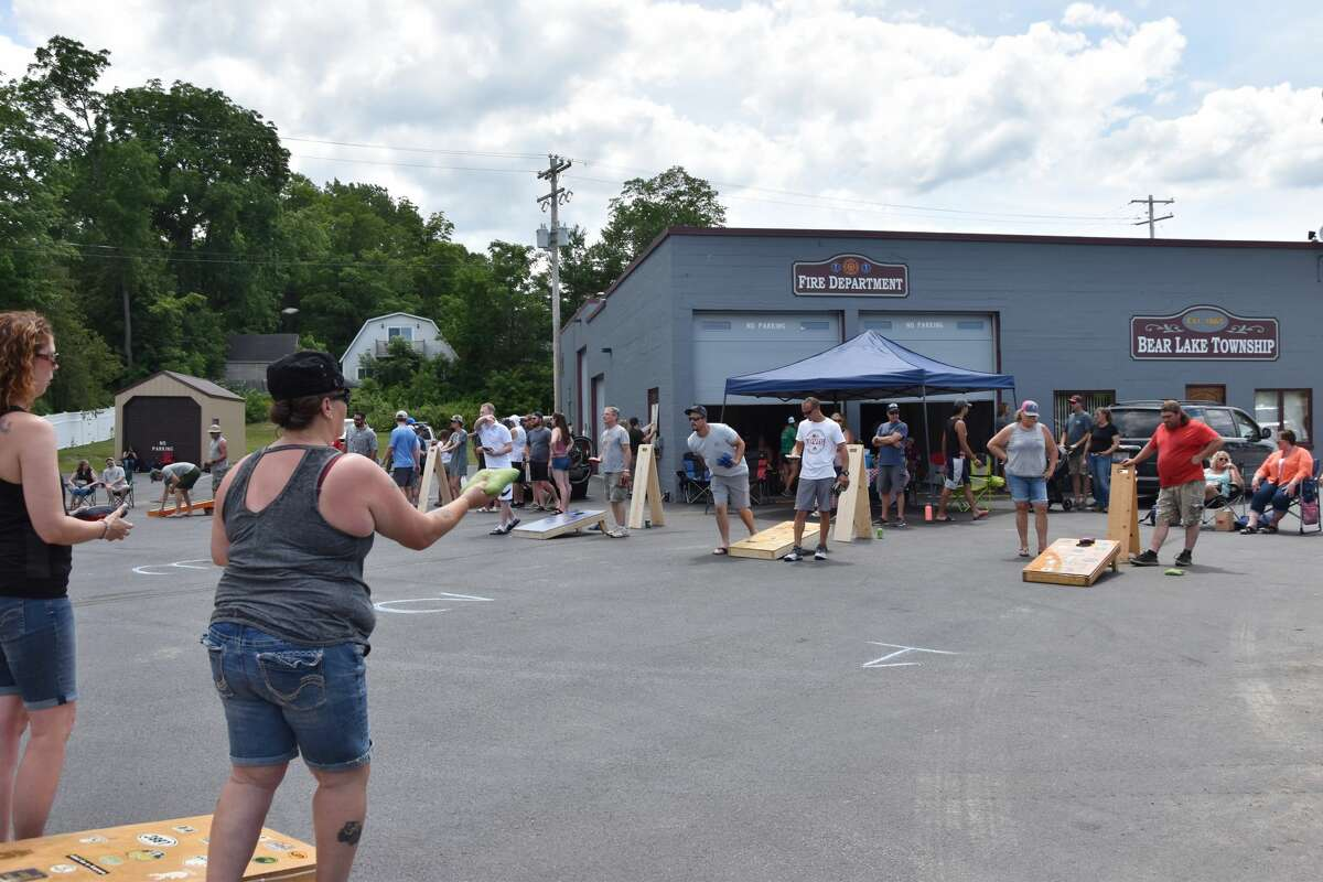 The Bear Lake Days cornhole competition brought 28 teams together on Saturday.