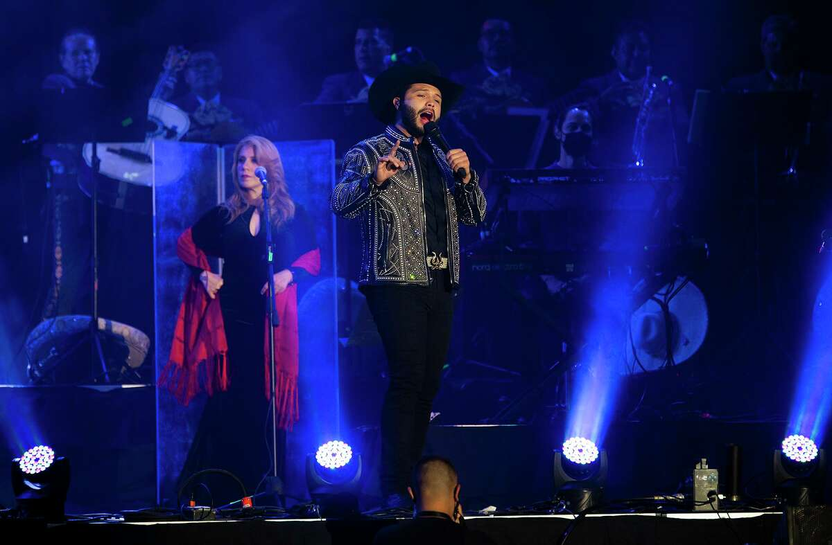 Leonardo Aguilar performs at the Sames Auto Arena, Friday, July 10, 2021, during the Los Aguilar concert. This was the first concert at the Sames Auto Arena since the beginning of the COVID-19 pandemic.