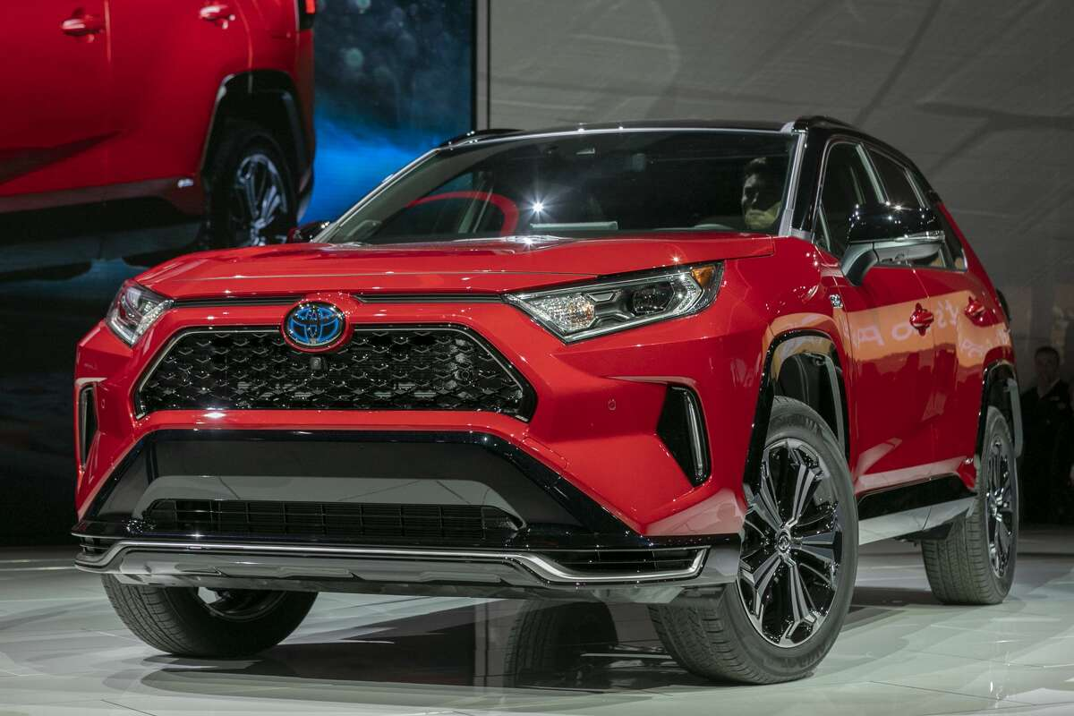 LOS ANGELES, CA - NOVEMBER 20: The Toyota RAV4 Hybrid is shown at AutoMobility LA on November 20, 2019 in Los Angeles, California. The four-day press and trade event precedes the Los Angeles Auto Show, which runs November 22 through December 1. (Photo by David McNew/Getty Images)