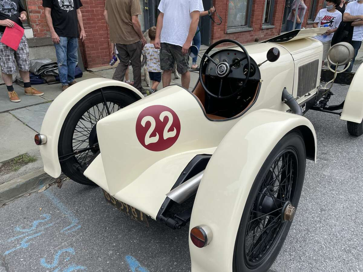 Rudy LaBountyof Saugertiesbrought his 1926 Dodge Brothers race car to the Saywer Motors Car Show.He said the car was modified for racing in its history, but by the time the work was done on the four-cylinder car, it was already outclassed by newer and bigger cars with V6 and V8 engines.