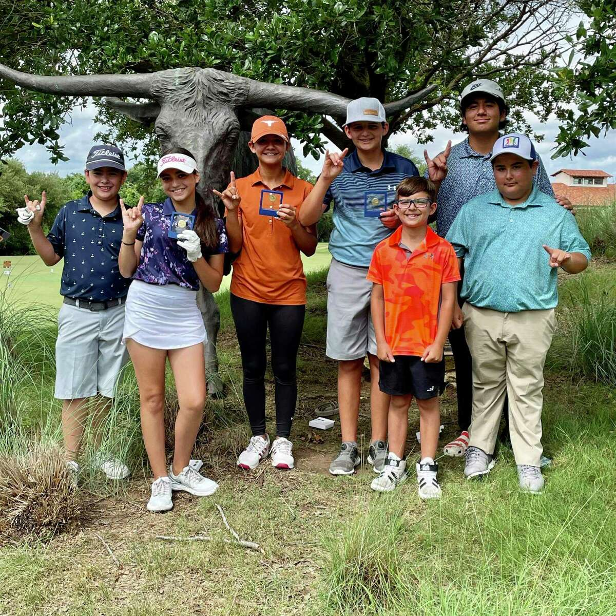 Eight local youth golfers participated at the sub-regional Drive, Chip and Putt at the University of Texas Golf Course on June 29.