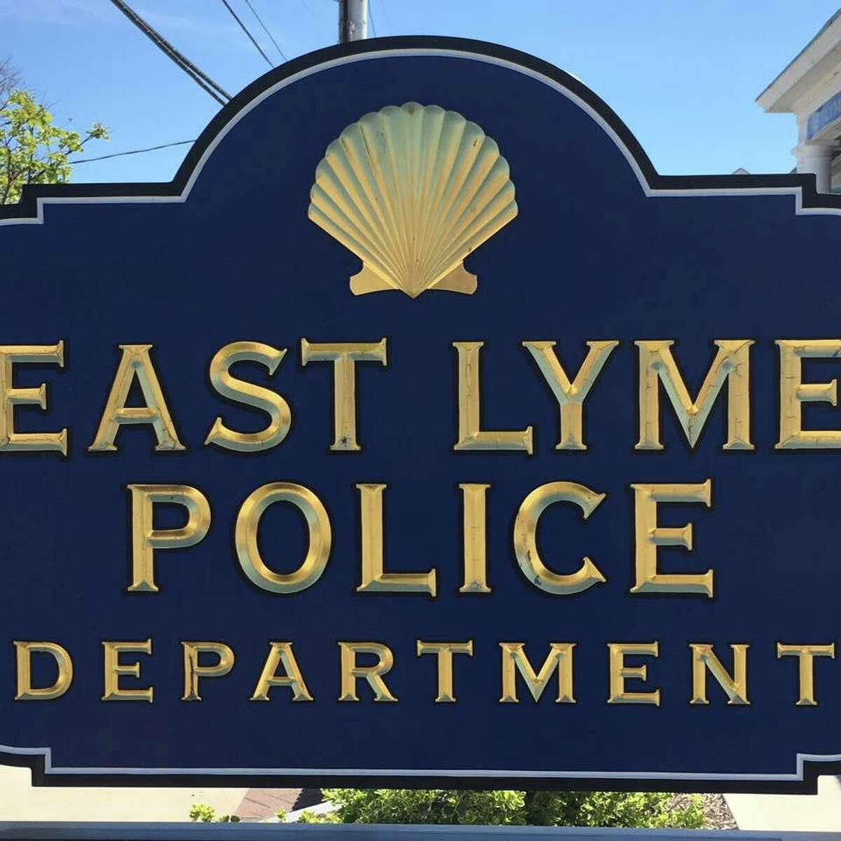 East Lyme police sign