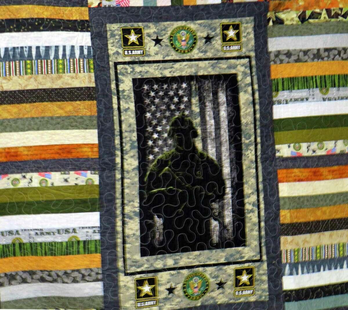 Quilt made to honor Korean War Army veteran Richard Hopkins.