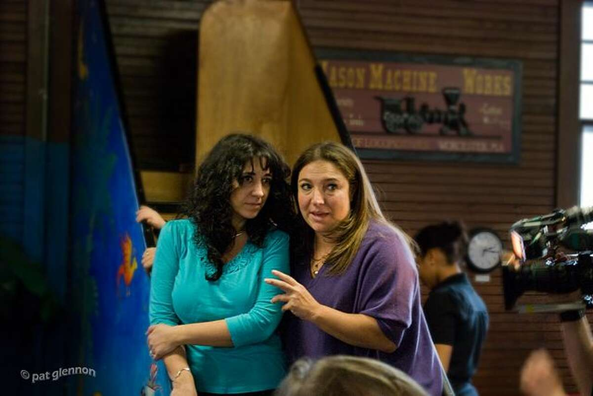 Supernanny Jo Frost (right) at the Children's Museum in Easton, Mass.