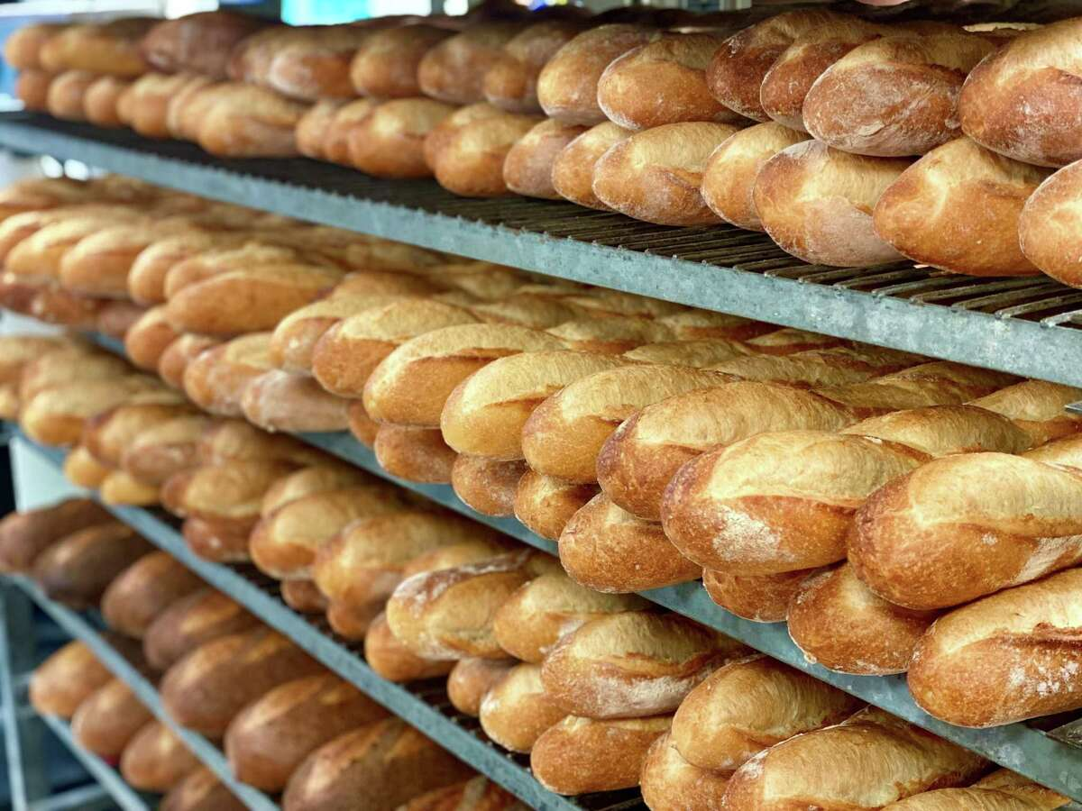 Baguettes ready for shipping from Bread Man Baking Co.