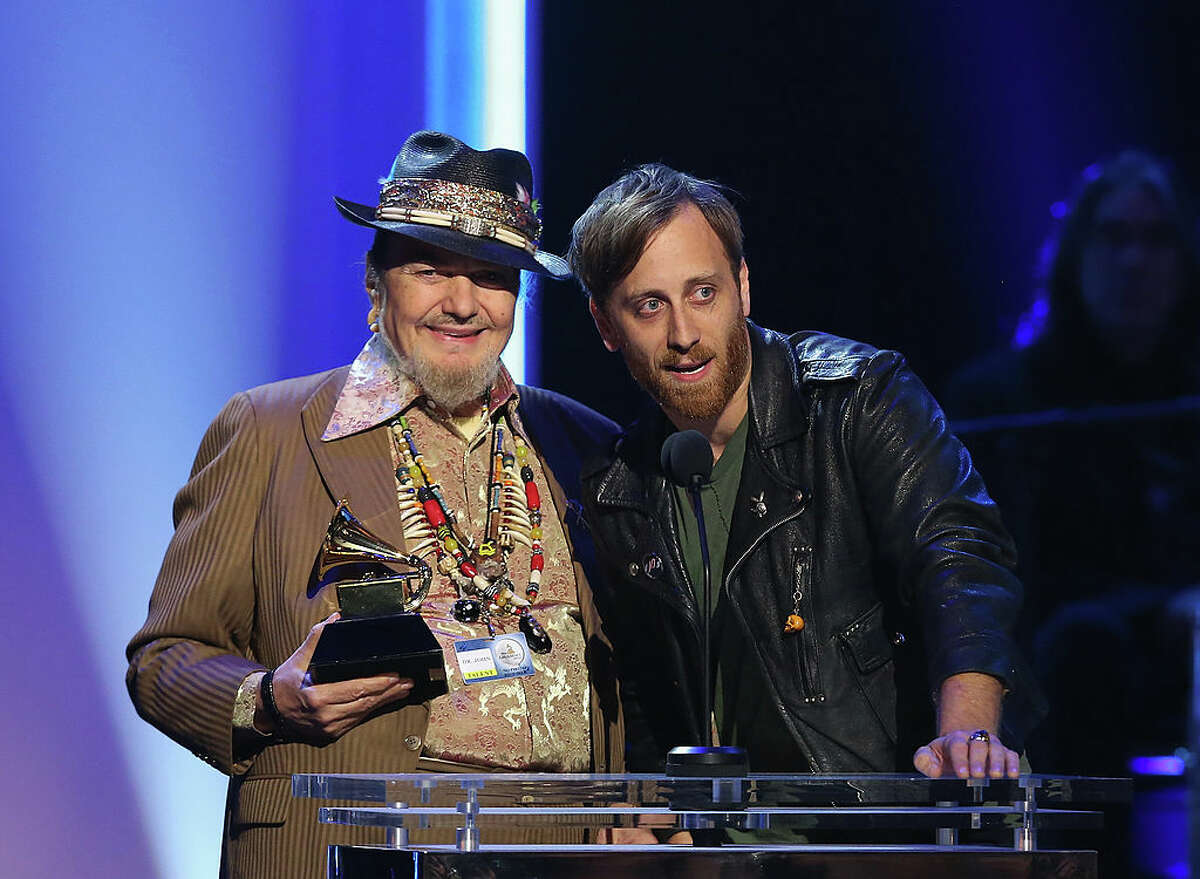 """The new Dr. John film will mark the directorial debut for Black Keys' singer and guitarist Dan Auerbach (right), who produced the Grammy-winning 2012 album """"Locked Down"""" by Dr. John, who passed away in 2019."""