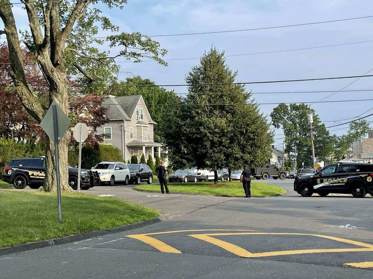 Norwalk police blocking off a portion of Magnolia Ave. on July 11, 2021.