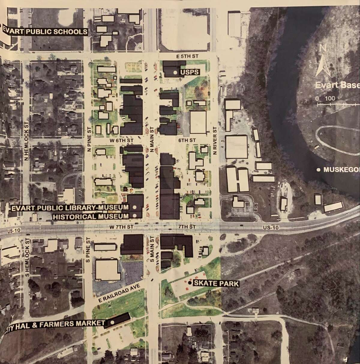 The Evart DDA main Street project includes enhancing walkability and connectivity between the city and the river, as well as between different areas of the city. (Photo courtesy of Evart DDA)