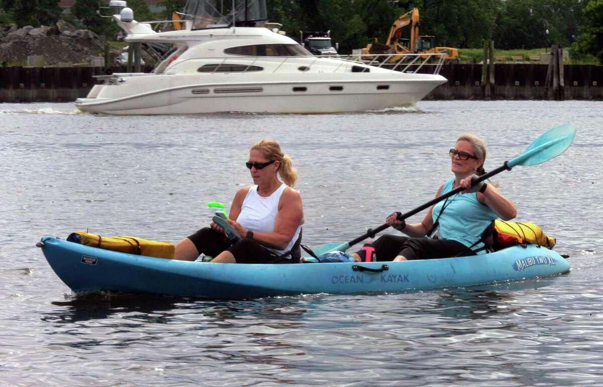 Susan Langer and her friend Kim Kiner, of Darien.