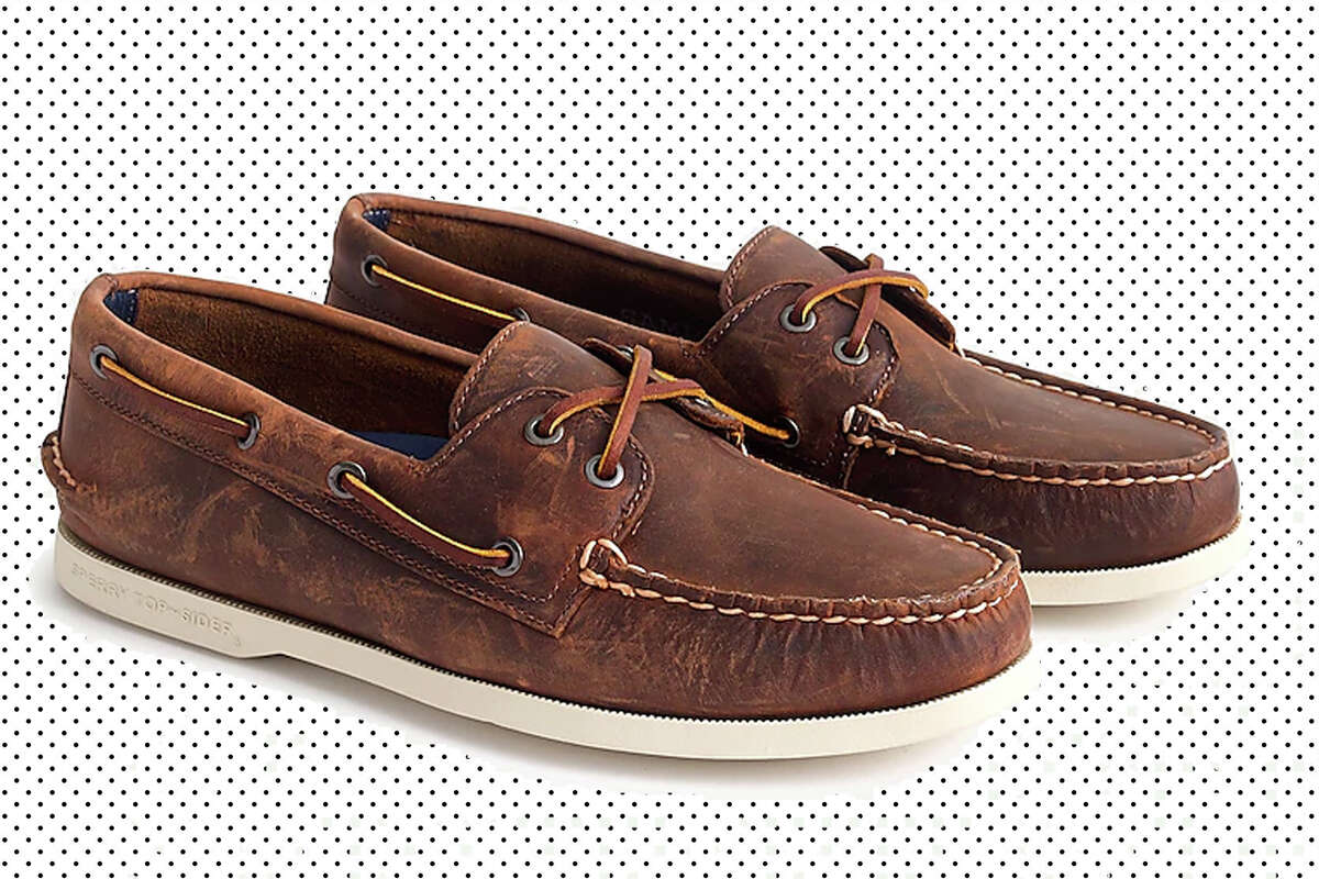 Sperry for J. Crew boat shoes for $33.20 with promo code SALETIME