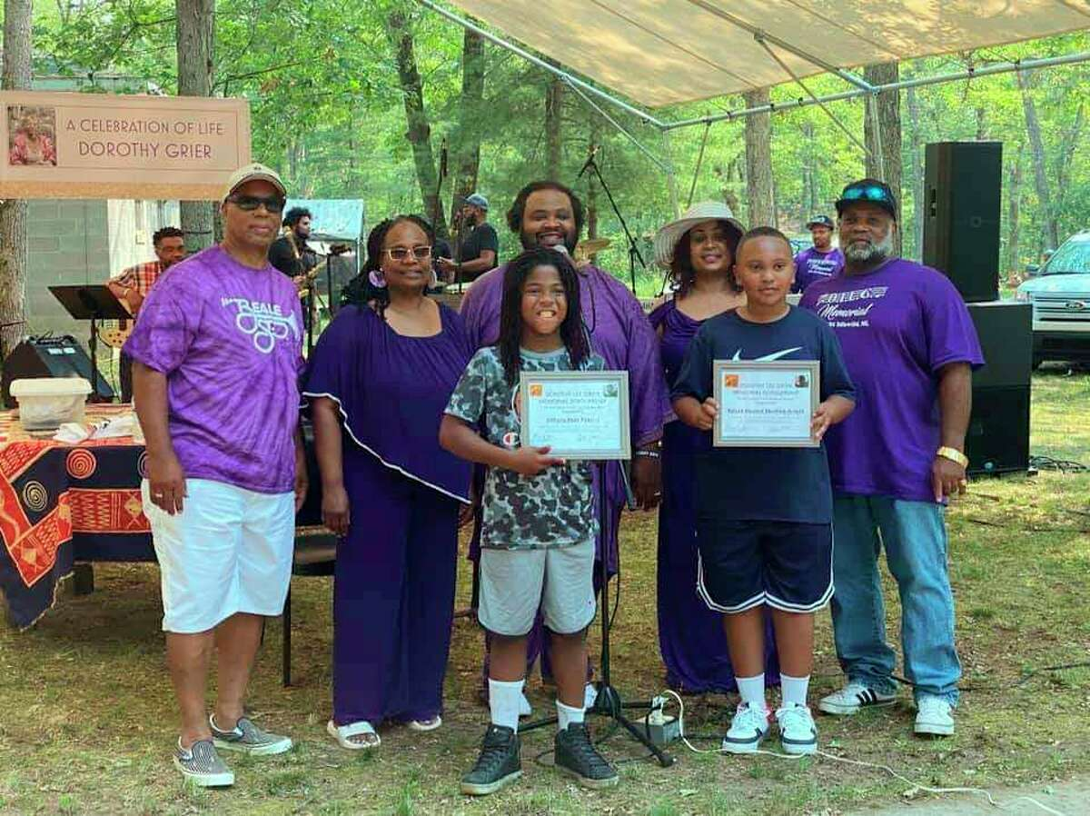Music scholarships inhonor ofDorothy Lee Grierwere awarded to two local children on Saturday, July 3. (Submitted photo)