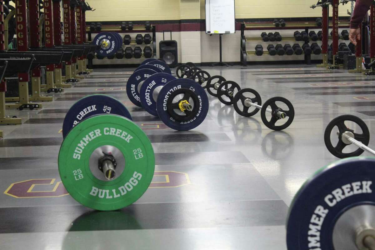 Summer Creek is using a new weight room this summer for summer workouts.