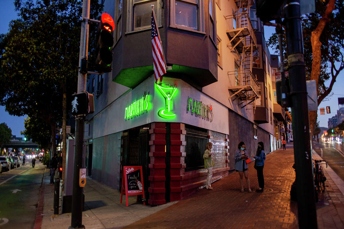 The scene at recently reopened Martuni's, San Francisco's only true piano bar.