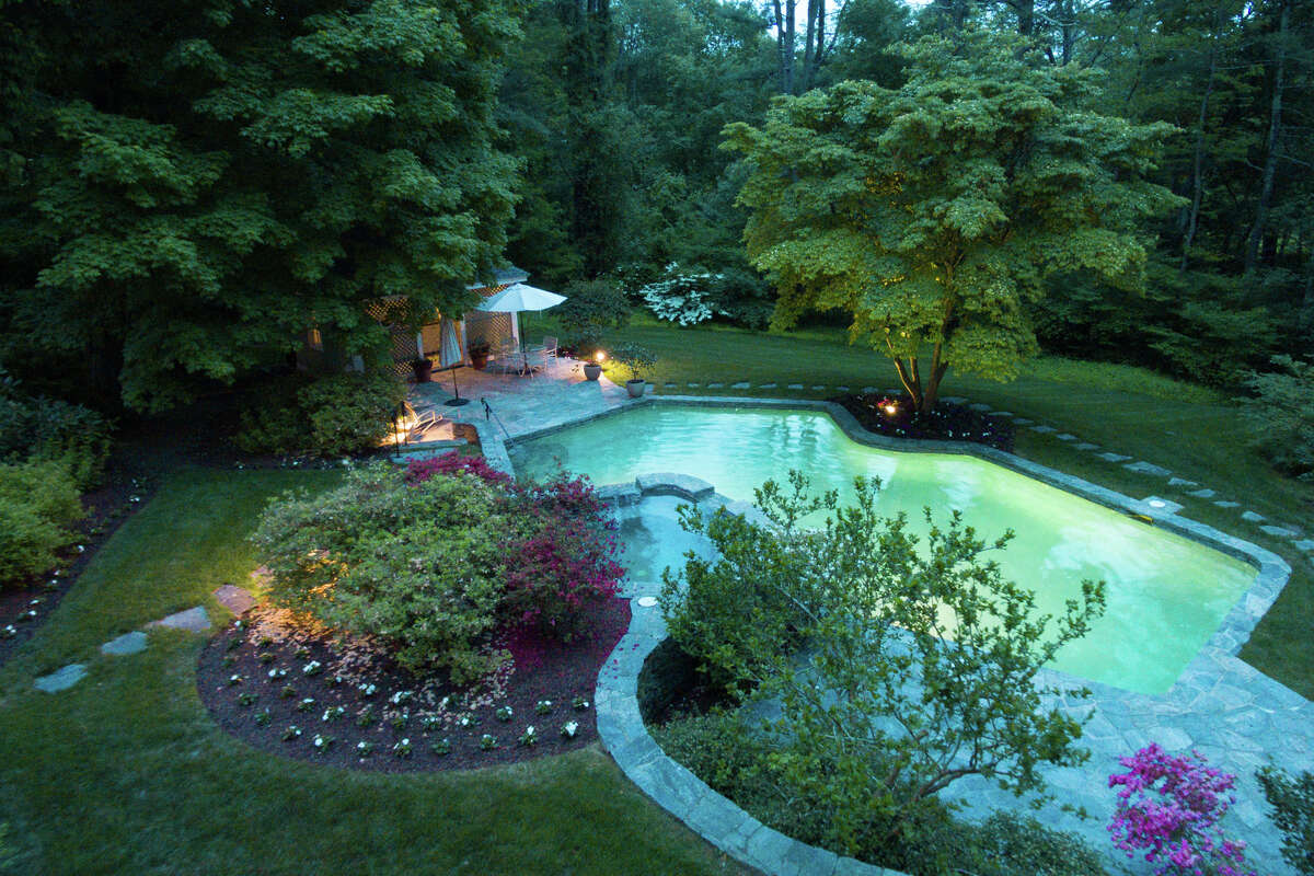 The compound on Hamburg Roadhas a heated, in-ground Gunitepool, as well as a pool house on its almost 11 acres of land.