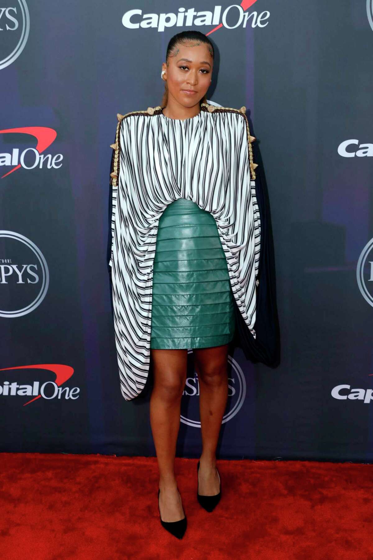 Naomi Osaka attends the 2021 ESPY Awards at Rooftop At Pier 17 on July 10, 2021 in New York City. (Photo by Michael Loccisano/Getty Images)