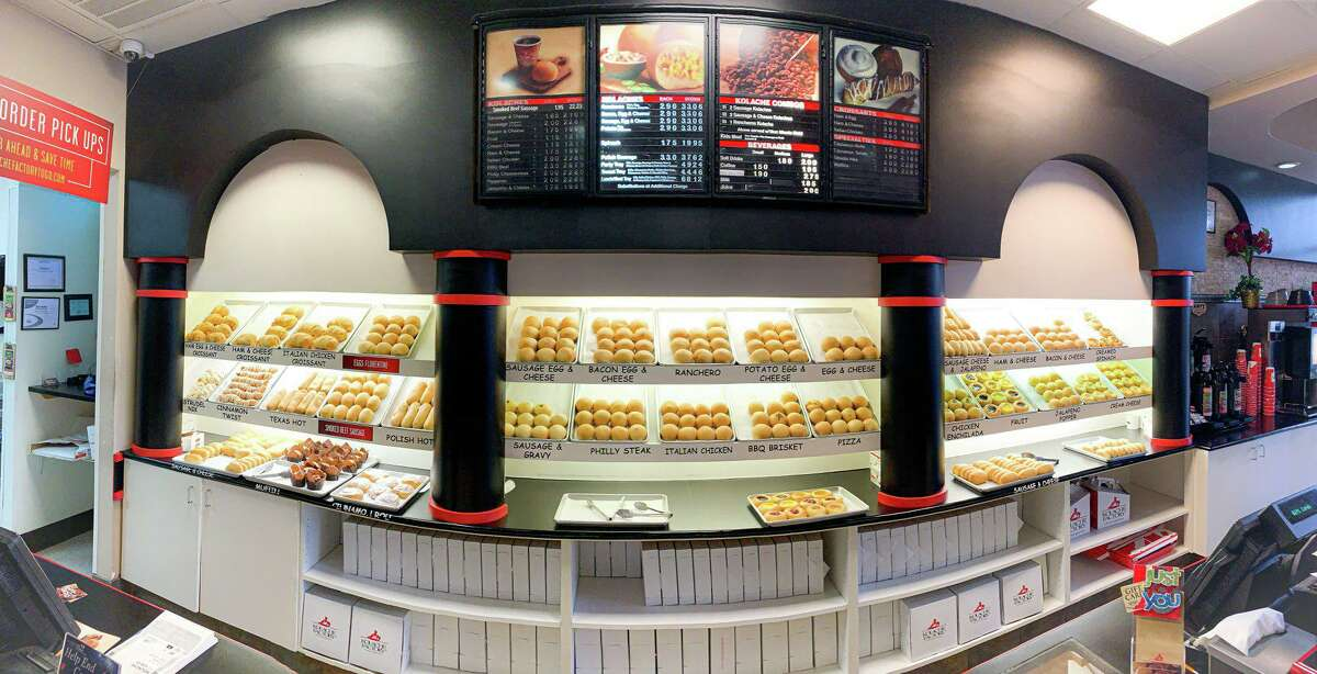 The sausage, ham, bacon, and cheese kolaches are staples, but the Kolache Factory offers many other varieties.