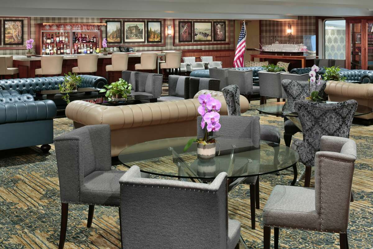 A library is also on board the American Duchess - one of many common areas the vessel offers.