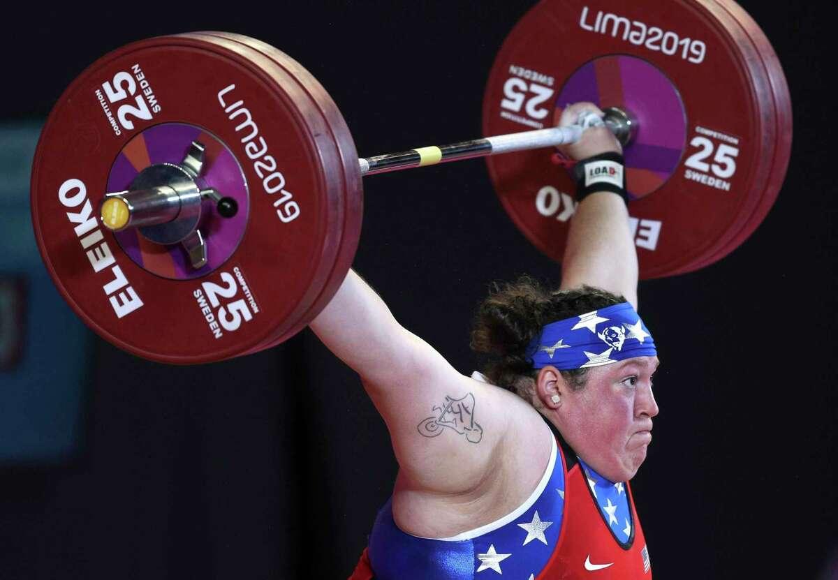 Sarah Robles, competing at the 2019 Pan Am Games, has found training easier for this Olympics.