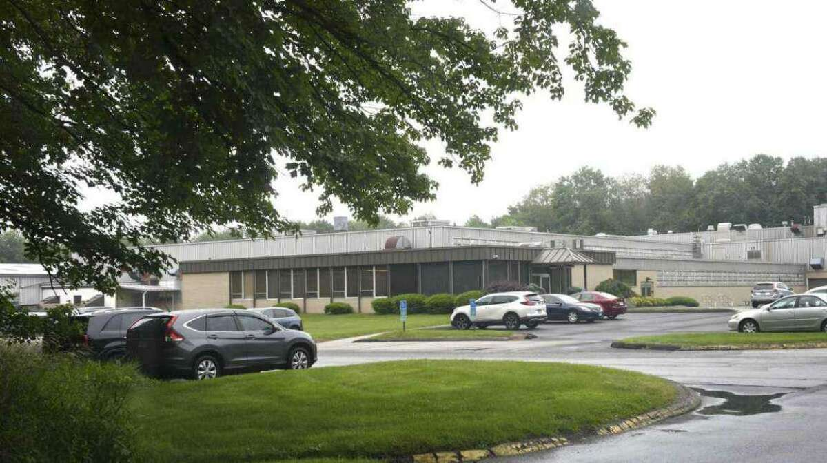 The former Hubbell factory off Route 25 in Newtown, now owned by Ohio-based Kimball Midwest, where the company plans to open a northeast distribution center after Newtown leaders approved a tax abatement.