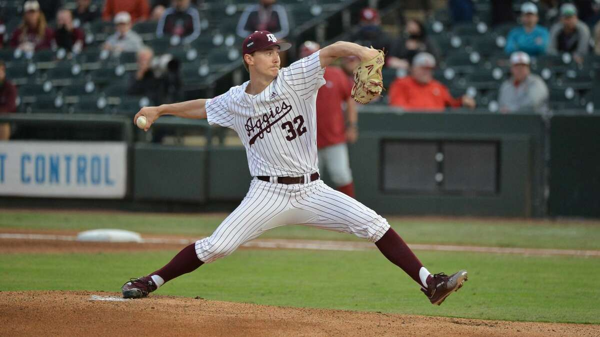 New Braunfels graduate and Texas A&Mright-handed pitcher Bryce Miller was selected by the Mariners in the fourth round of the Major League Baseball draft Monday, July, 12, 2021.