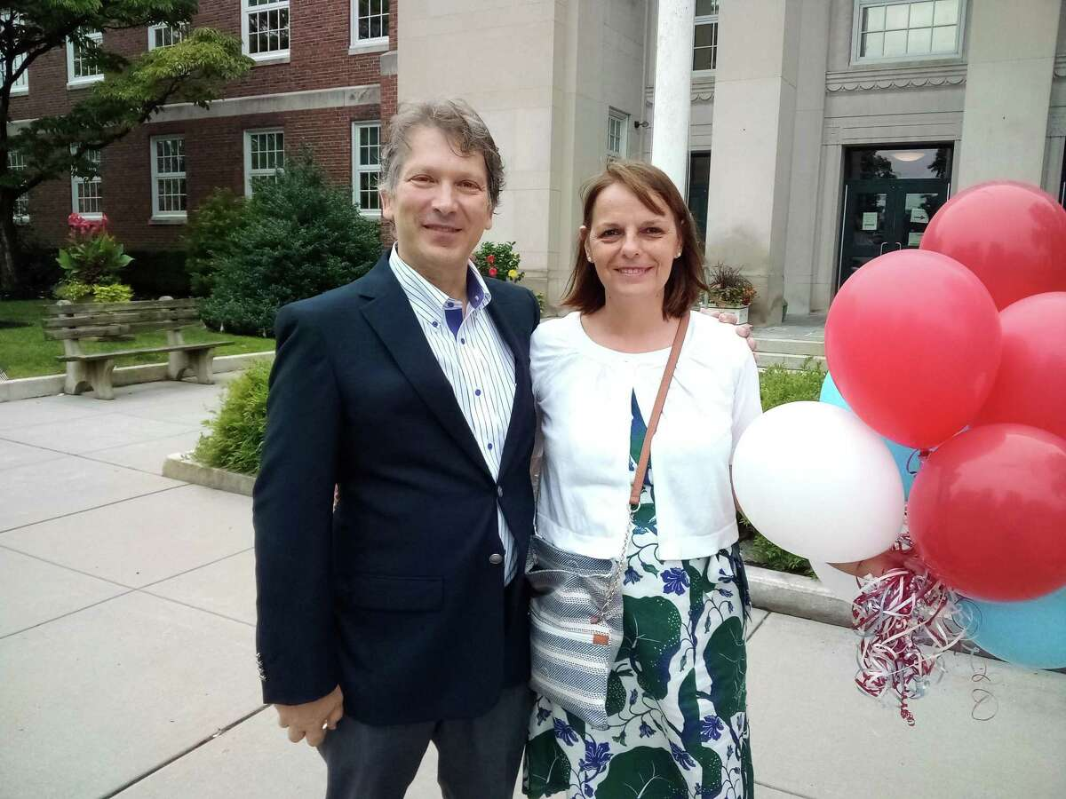 Torrington resident Stephen Ivain, pictured with his wife, Philippa, was endorsed July 22 by the Democratic Town Committee to run for mayor.