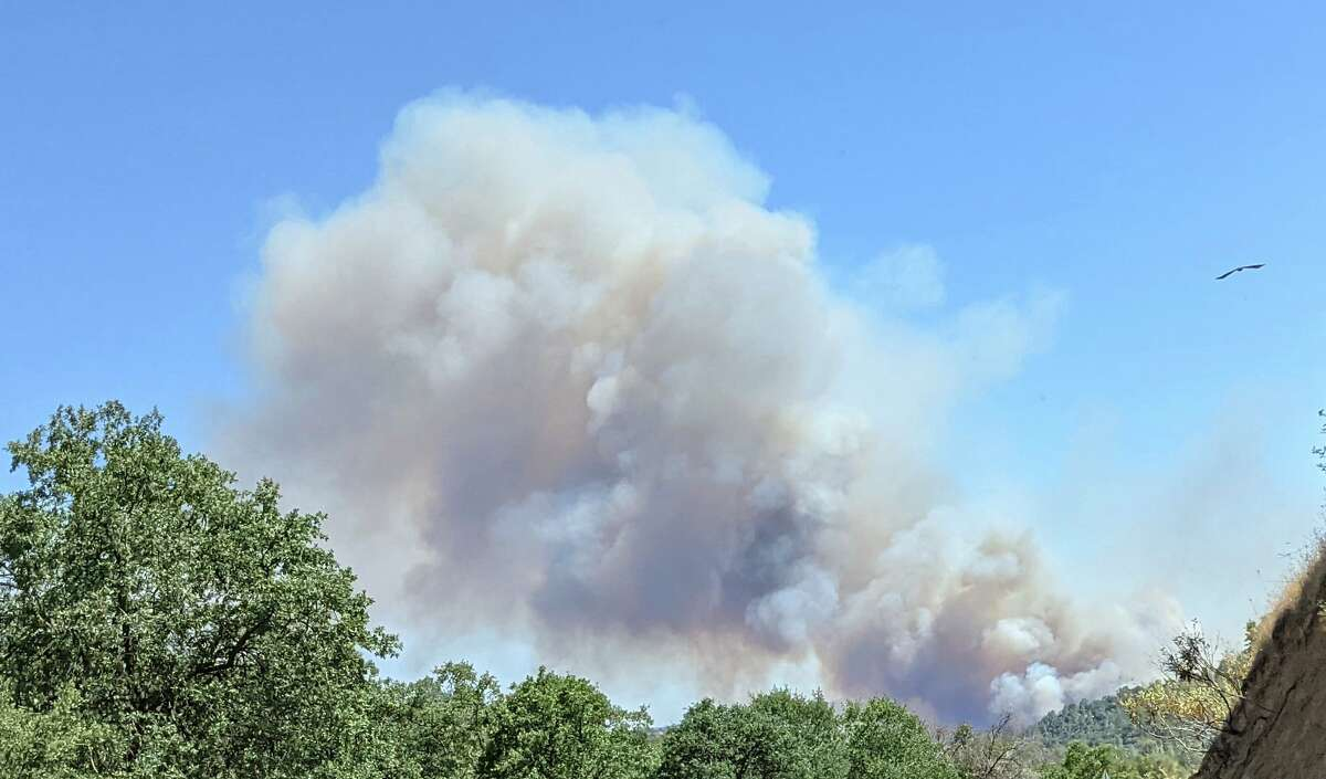 The River Fire had burned more than 5,000 acres across Mariposa and Madera counties in California's Sierra foothills as of Monday, July 12, 2021.