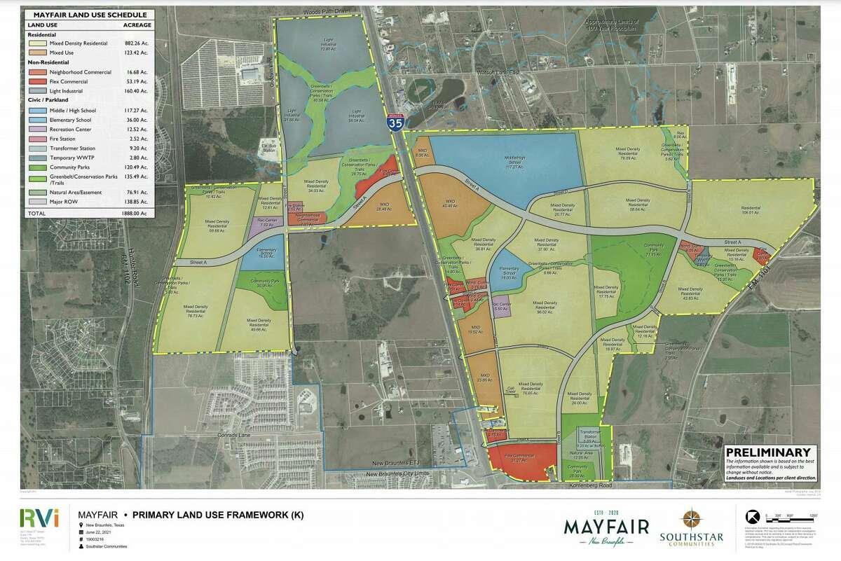 The master plan for the Mayfair development.