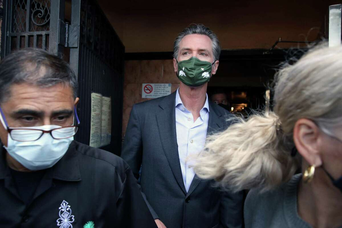 Gov. Gavin Newsom, pictured here in June, sued last month to get his party identification added to the recall ballot.