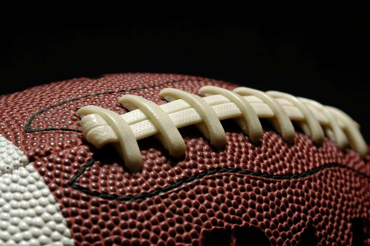 Fpptball with laces out. Stock photo