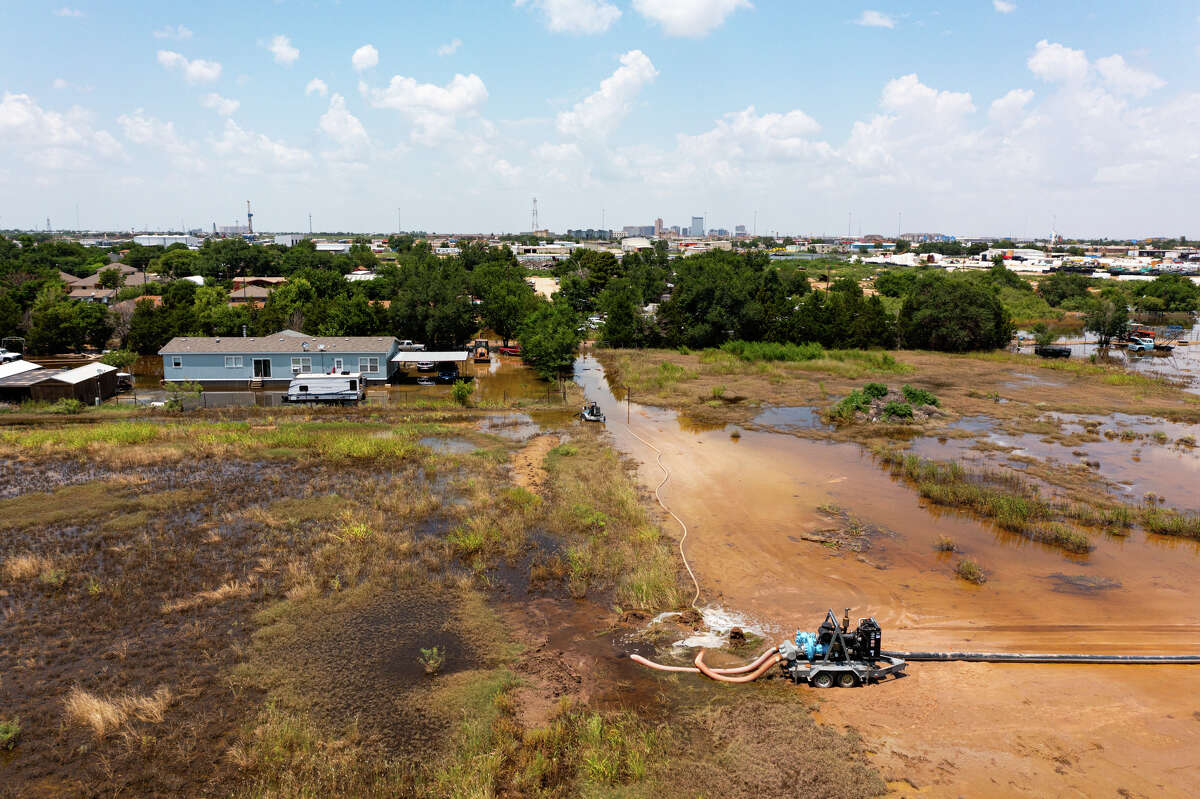 Flooding south of Interstate 20 near Rankin Highway photographed July 12, 2021. MANDATORY CREDIT: The Oilfield Photographer, Inc.