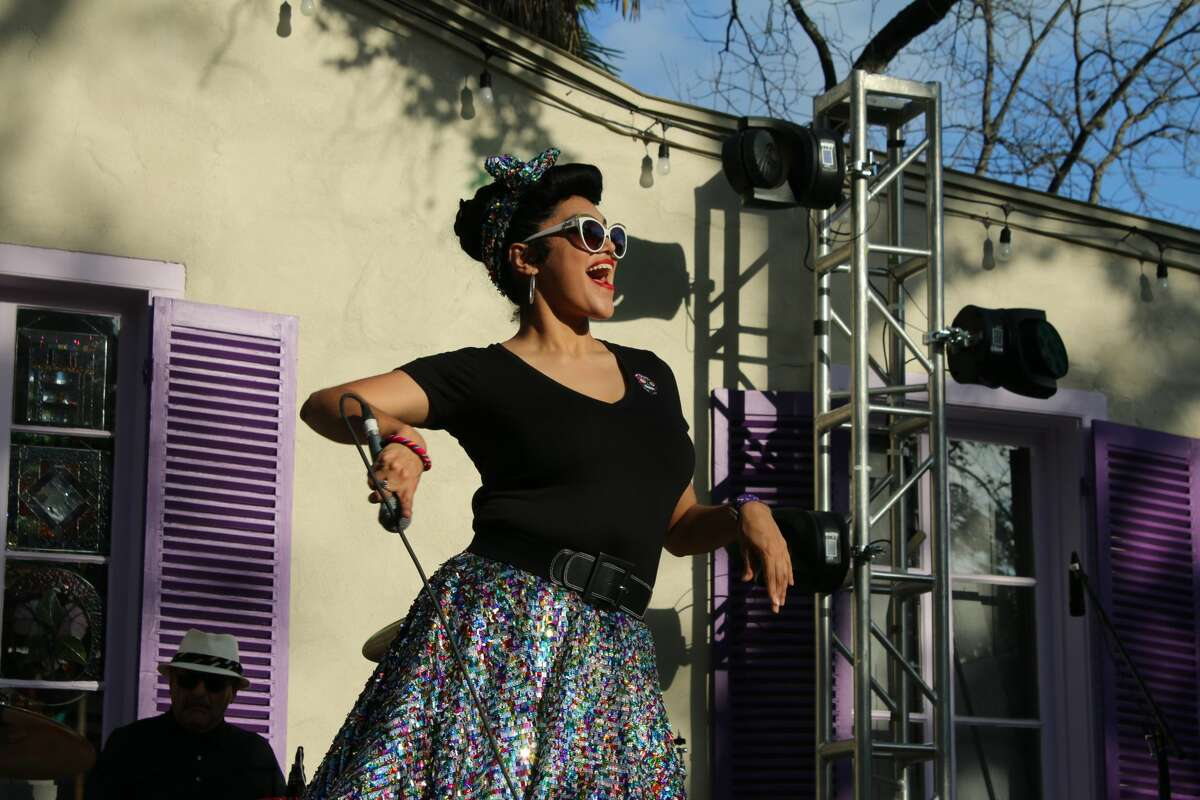 Singer Veronique Medrano performing at a previous Tejano Music Awards Summer Fan Fair one summer. Medrano will be headlining the Conjunto Heritage Taller event on Aug. 7.