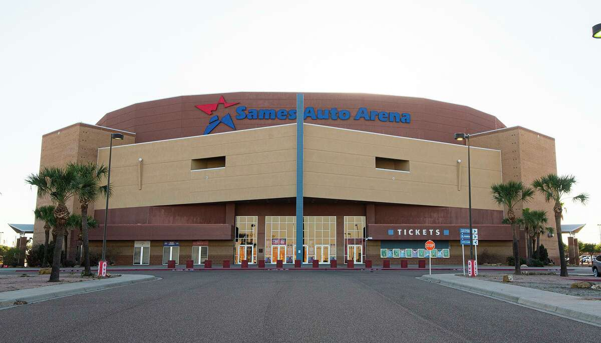 Exterior view of the Sames Auto Arena as seen Tuesday, April, 20, 2021.