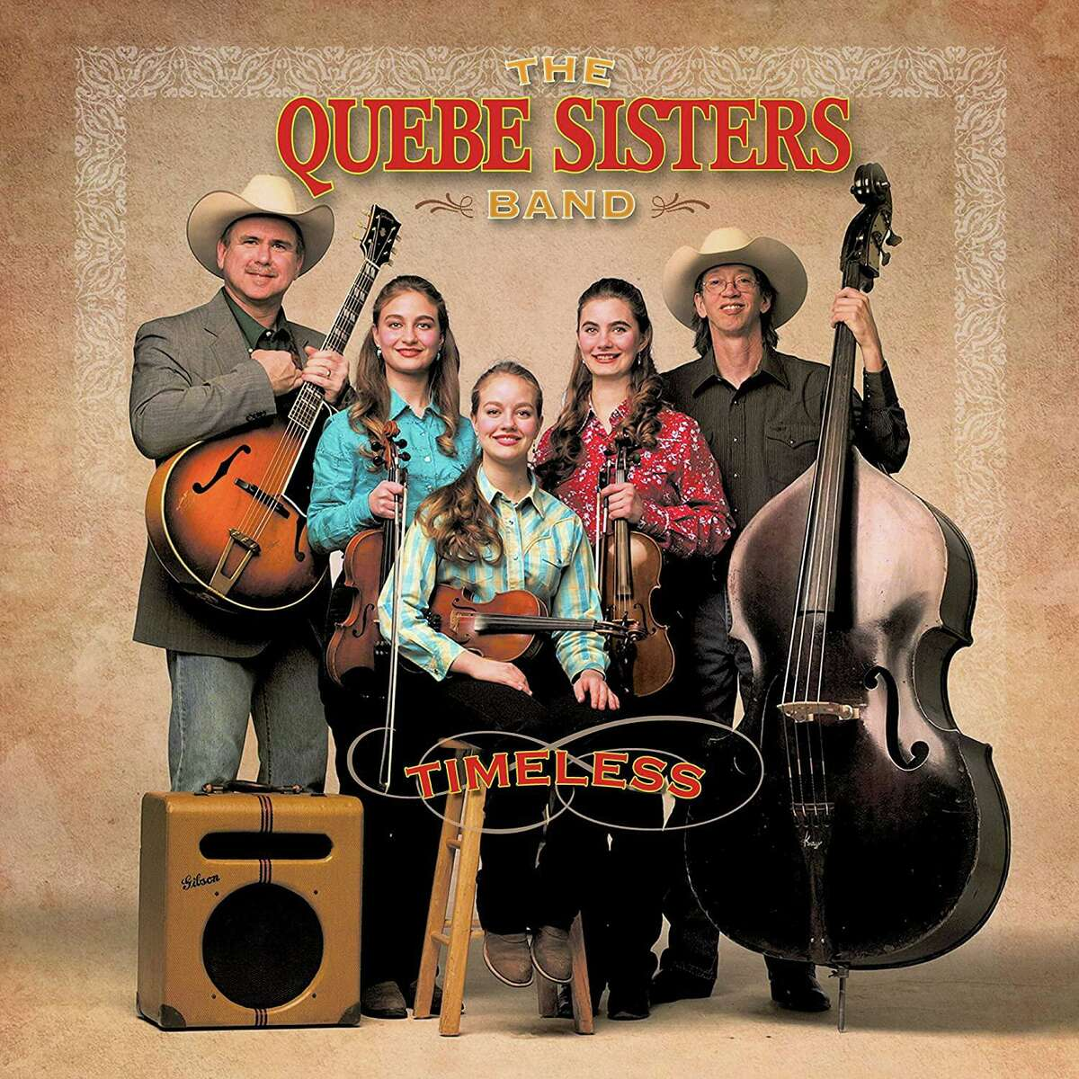 Album cover, The Quebe Sisters Band, Timeless.
