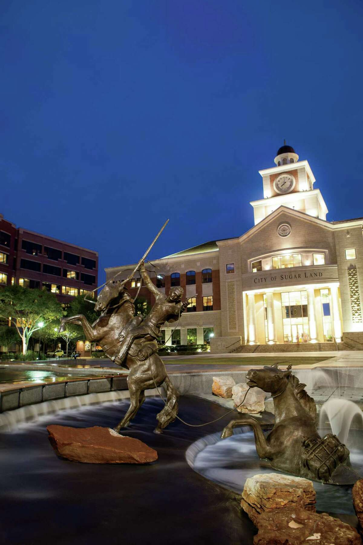 Shown here is a view of Sugar Land Town Square.