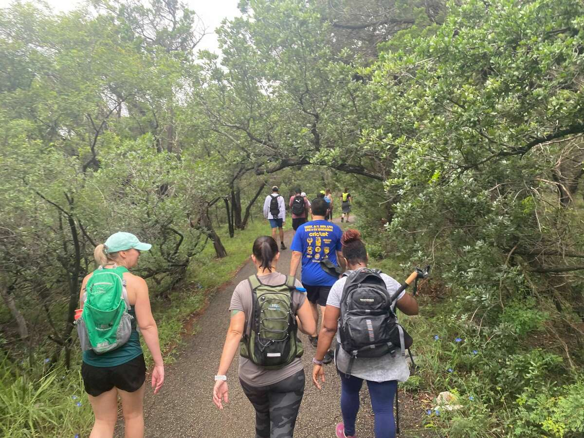 I hiked six miles with the San Antonio Hill Country Hiking Group on Sunday at Eisenhower Park.