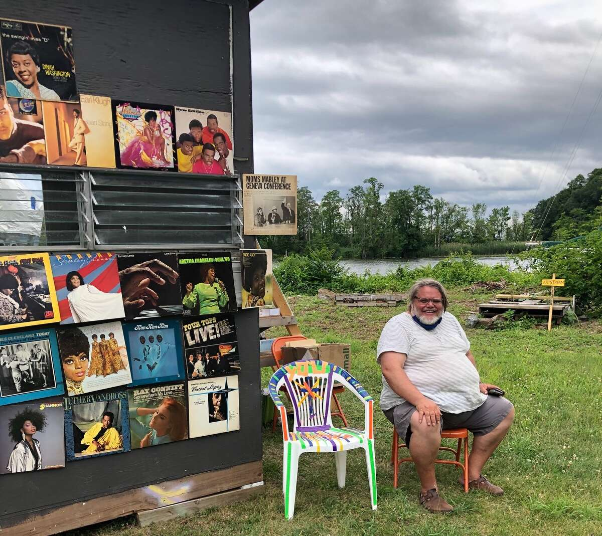 Outside of ArtPortKingston, artists like Stefan Saffer are invited to spend as little as an hour or as long as a week at this tiny artist studio, part of a program called Habitat for Artists.