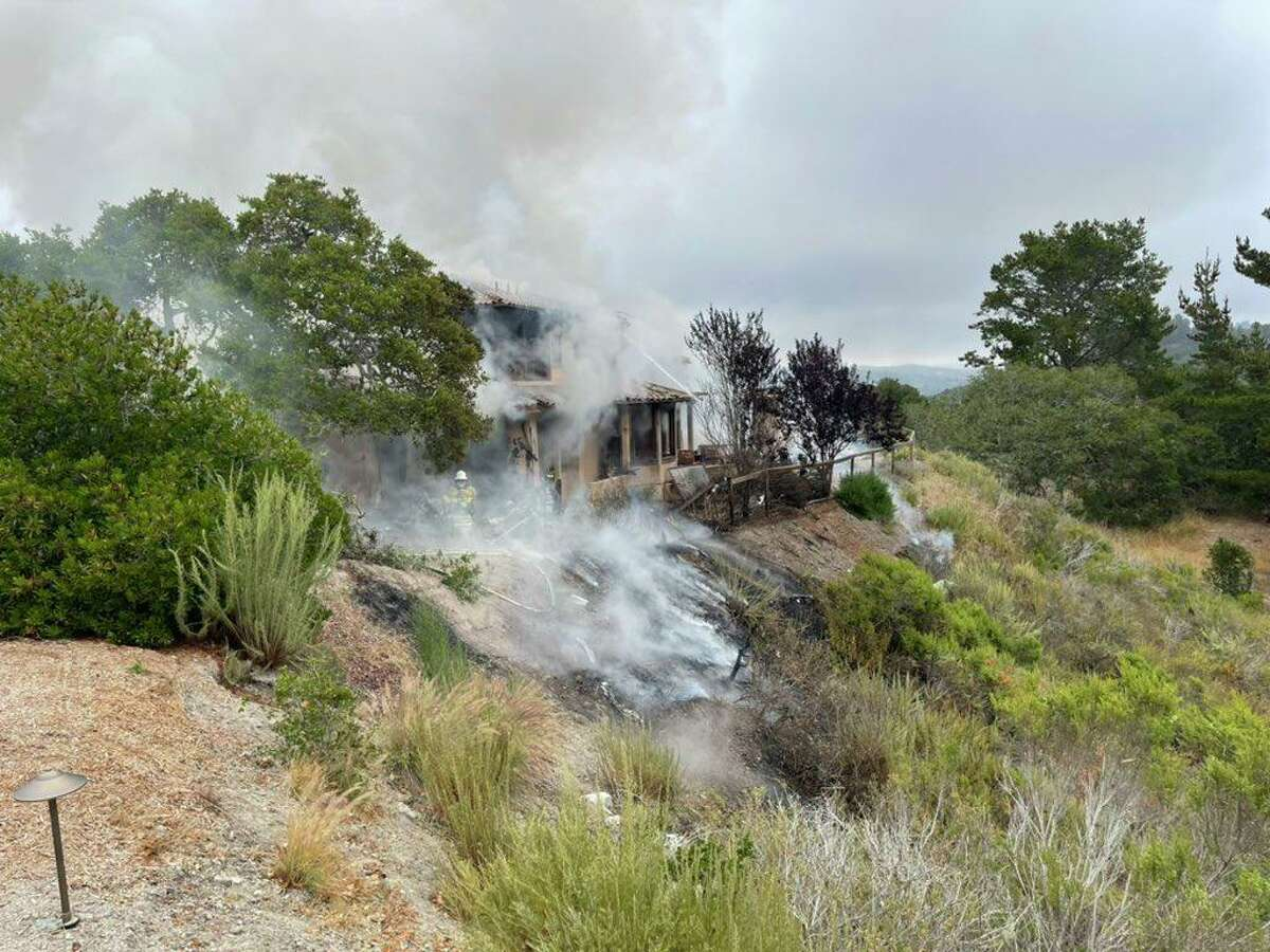 A small plane crashed into a Monterey home on Tuesday.